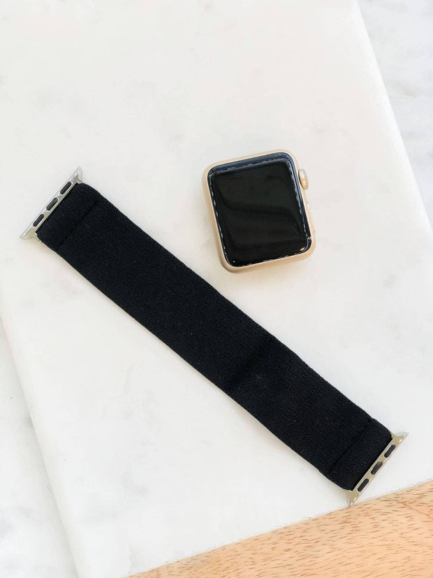 Black Stretch Watch Band