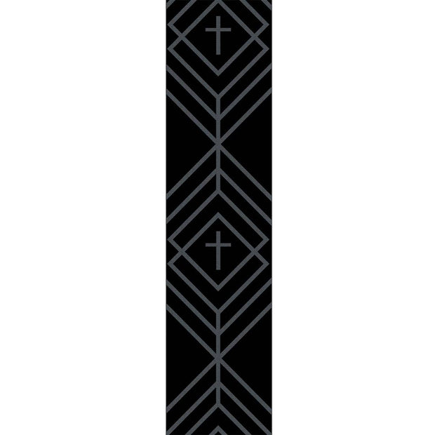 Black Diamond Cross Guitar Strap - Fruit of the Vine