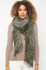 Olive Frayed Scarf | Fruit of the Vine Boutique