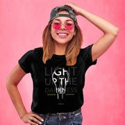 Light Up the Darkness John 8:12 T-shirt - Fruit of the Vine