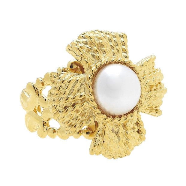Vintage Cab Pearl Ring | Susan Shaw | Fruit of the Vine Boutique