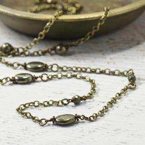 Layering Pyrite Necklace