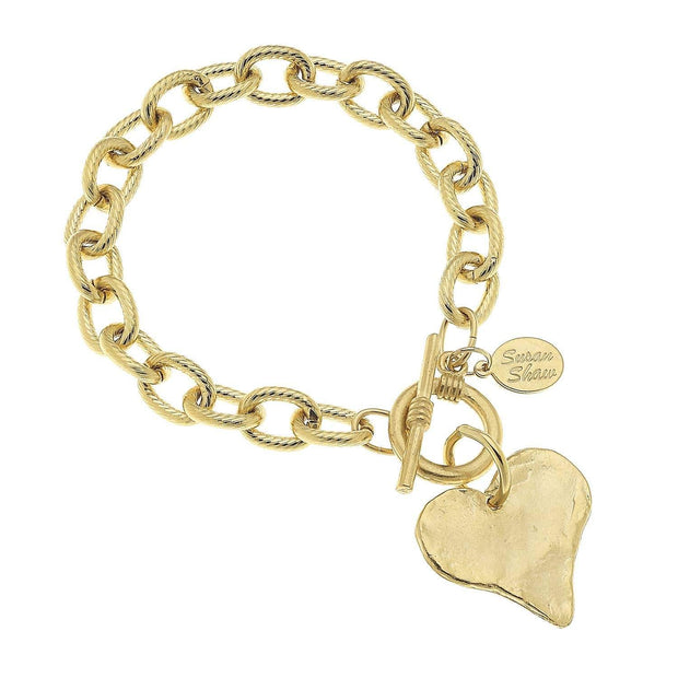 Heart Toggle Bracelets | Susan Shaw | Fruit of the Vine Boutique