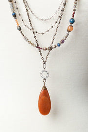 Awaken Leather Multistrand Collage Necklace