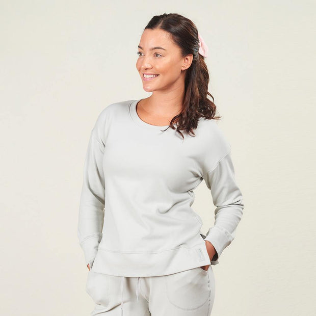 Faceplant Bamboo® Frida Pullover in Fog