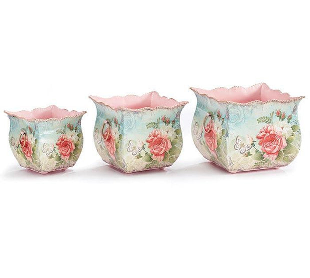 Rosabell Tin Nested Planter Set - Fruit of the Vine