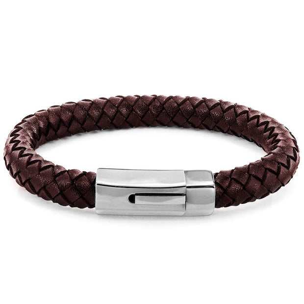 Crucible Men's Genuine Leather Braided Bracelet - Fruit of the Vine