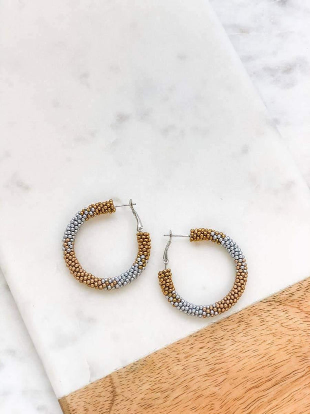 Carmen Beaded Hoops