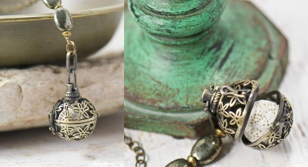 Starflower Diffuser Essential Oil Locket Necklace