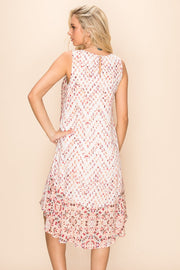 Mystree Blush Ruffle Dress - Fruit of the Vine