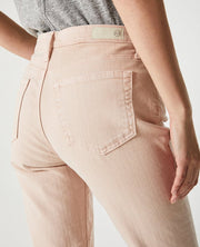 AG Jeans - The Isabelle High-Rise Straight Crop in Pink - Fruit of the Vine