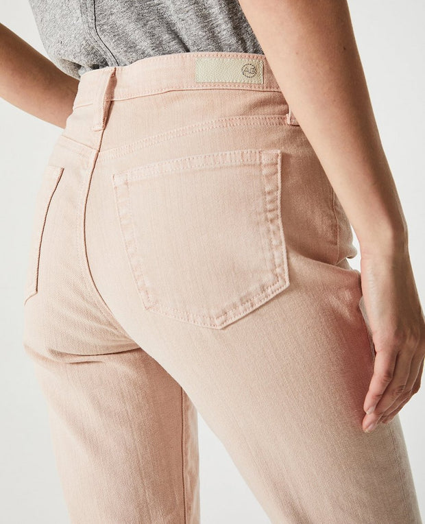 AG Jeans - The Isabelle High-Rise Straight Crop in Pink
