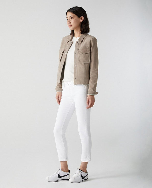 AG Jeans - The Prima Roll-Up in White - Fruit of the Vine