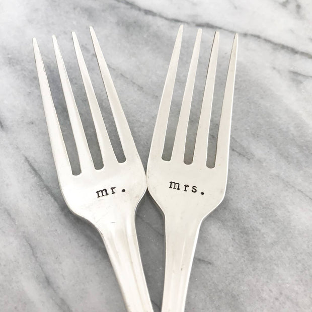 mr. & mrs. Vintage Silverplated Dinner Forks - Fruit of the Vine