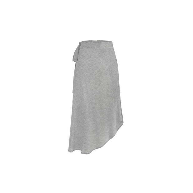 Duru Wrap Skirt in Grey - Fruit of the Vine