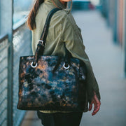 Erin Tote in Black and Gold Metallic | CoFi Leathers