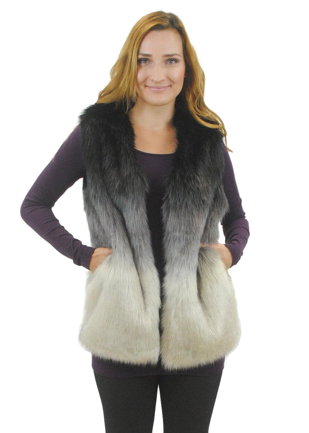 Ombre Fur Vest | Fruit of the Vine Boutique