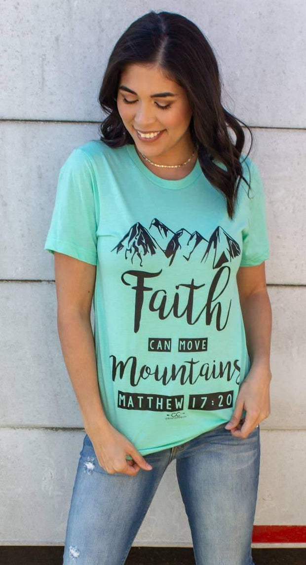 Faith Can Move Mountains Graphic Tee | Fruit of the Vine Boutique