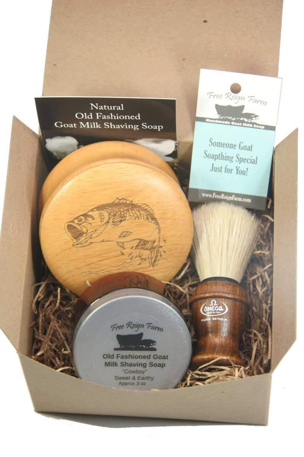 Men's Goat Milk Shaving Soap Gift Set | Fruit of the Vine Boutique