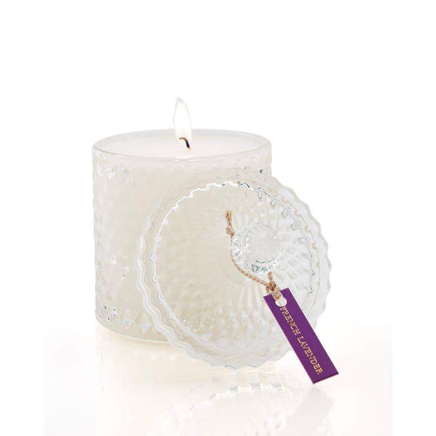 French Lavender Crystal Candle by Shelley Kyle - Fruit of the Vine