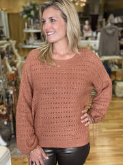 Iridescent Copper Sweater | Molly Bracken | Fruit of the Vine Boutique
