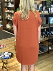 Sunset Mock Neck Dress