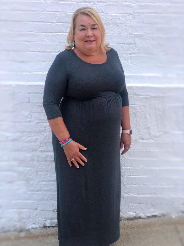 Simple and Sweet Maxi Dress (Curvy)