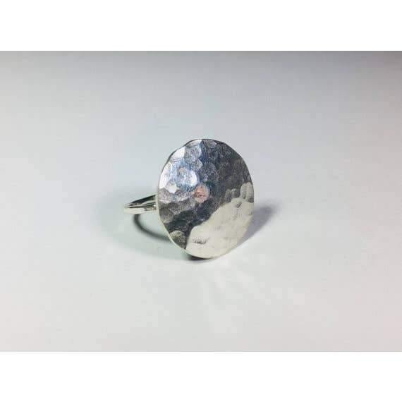 Sterling Silver Full Moon Ring
