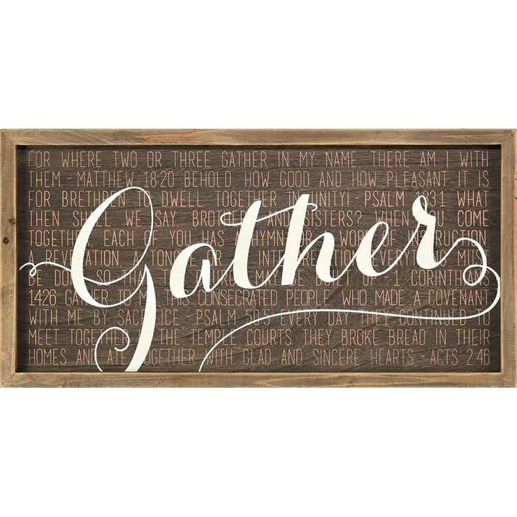Gather Wall Plaque