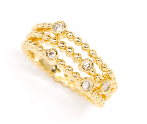 Crystal Beaded Layer Ring
