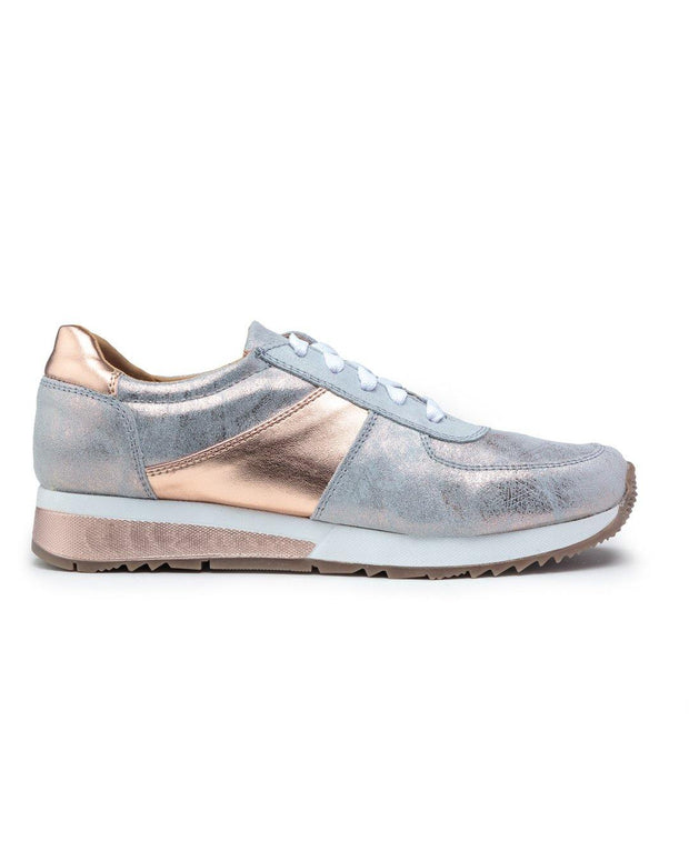Holly Sneakers in Rose Gold | CoFi Leathers | Fruit of the Vine Boutique