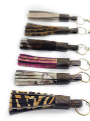 Repurposed LV Fringe Keychains