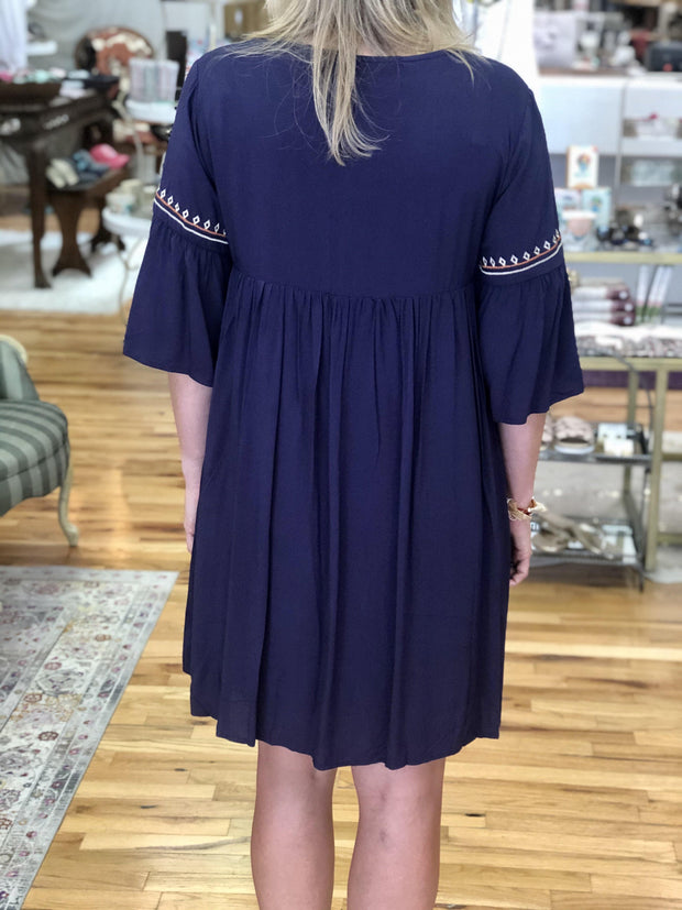 Audrey Embroidered Dress (S-3X)