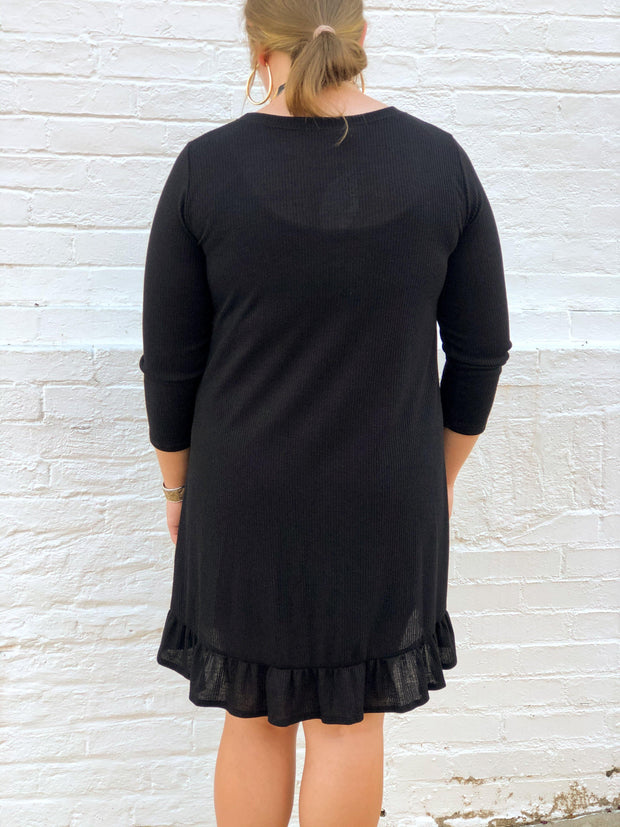 Feelin' Fall Ribbed Knit Dresses (Curvy)