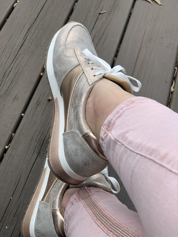 Holly Sneakers in Rose Gold | CoFi Leathers