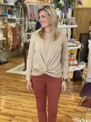 Beige Knot Top | Molly Bracken