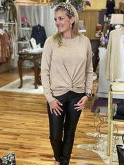 Slim Coated Pants | Molly Bracken