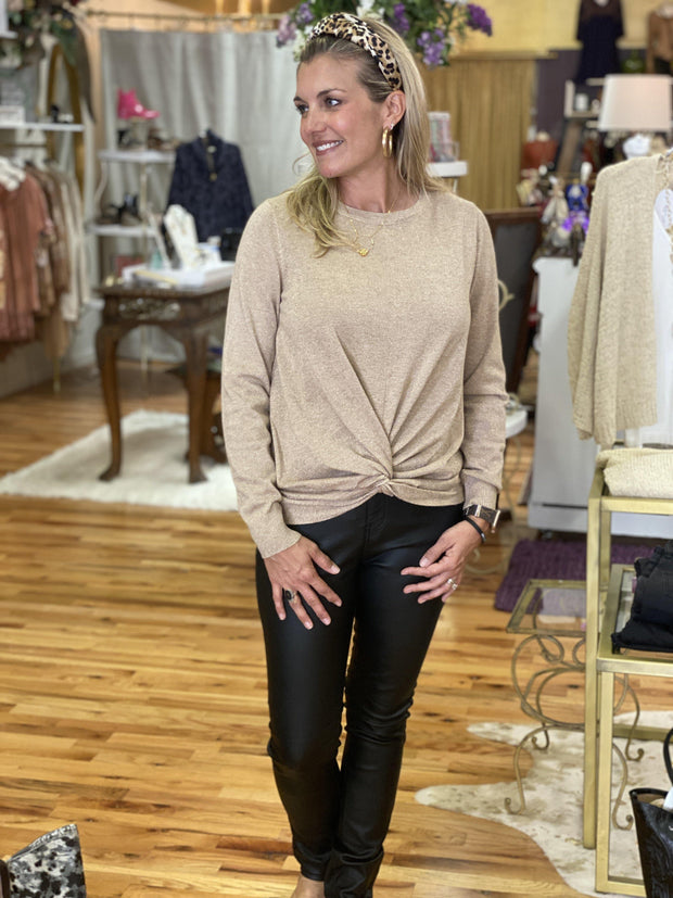 Slim Coated Pants | Molly Bracken | Fruit of the Vine Boutique