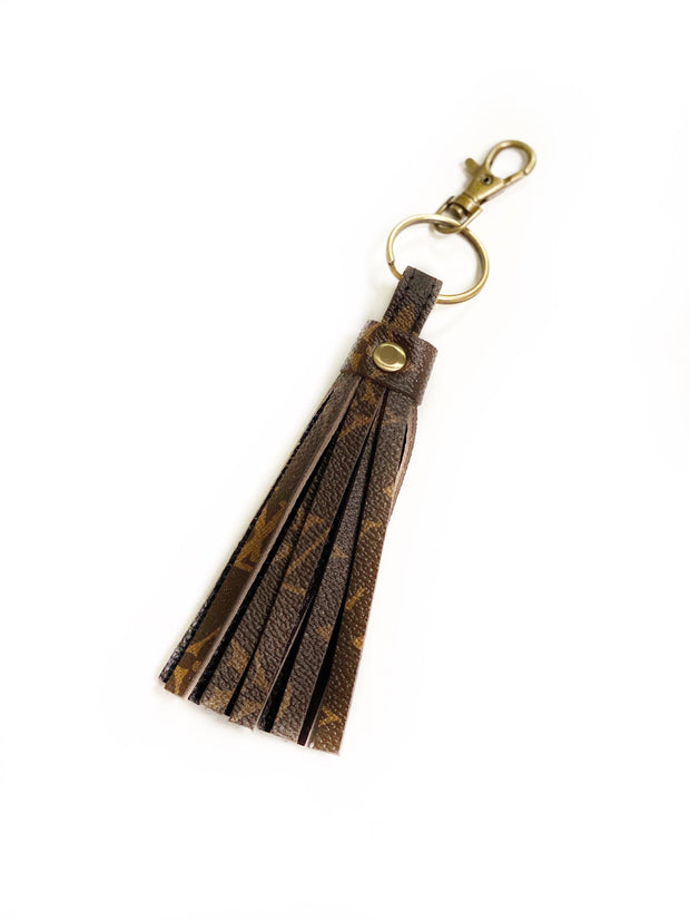 Repurposed LV Monogram Fringe Keychains