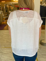 Sweet Summertime V-Neck Linen Tee