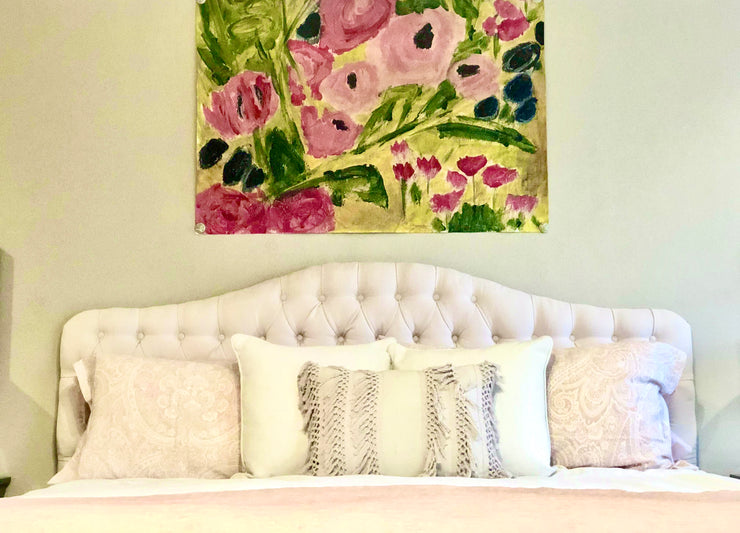Large Floral Paper Art Tapestry