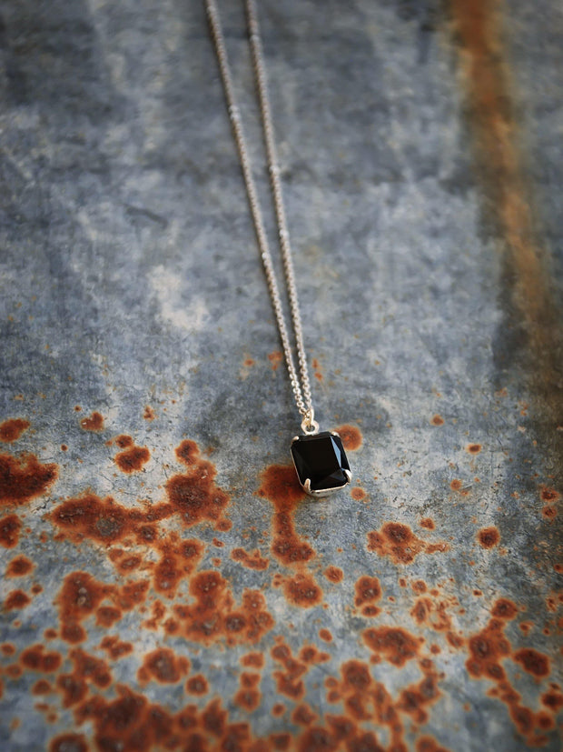 Black Vintage Swarovski Crystal Bonnie Necklace