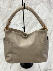 Ketty Hobo Tote Bag with Side Pockets