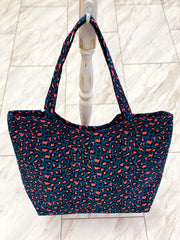 Rylan Leopard Tote with Zipper