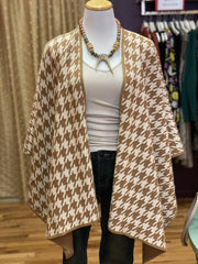 Reversible Houndstooth Cotton & Cashmere Wrap | Tyler Böe