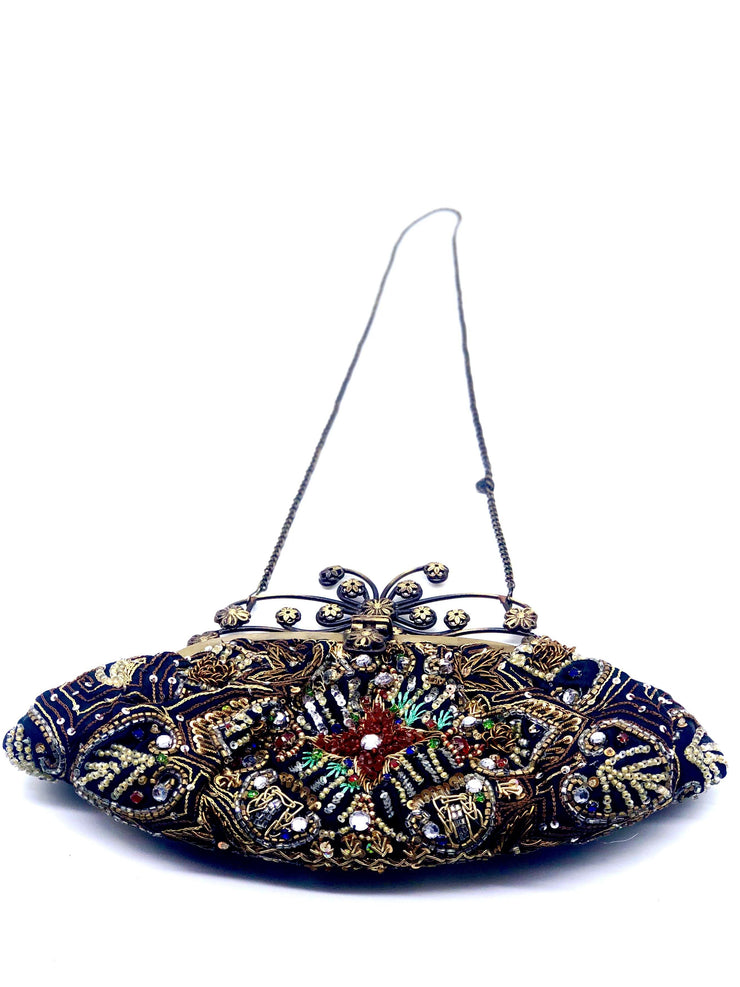 German Fuentes Black-Multi Evening Bag