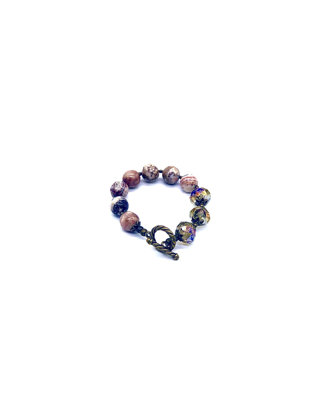 Handmade Stone and Faceted Bead Bracelets