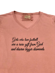 Gypsy South Mauve 'Girls Who Love Football' Tee - Fruit of the Vine