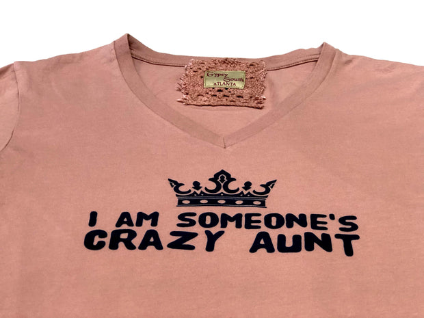 Gypsy South Mauve 'Crazy Aunt' Tee | Fruit of the Vine Boutique