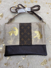 Repurposed LV Sugar Sugar Crossbody Bag